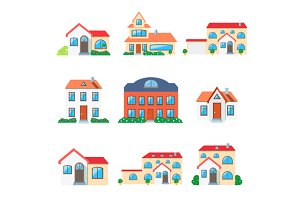 Set of House Home Icon