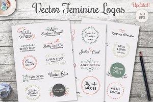 Vector Feminine Logo Templates