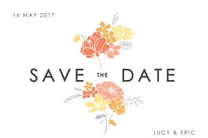 Floral Invitation - Save the Date