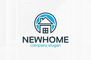 New Home Logo Template