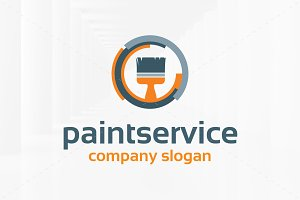 Paint Service Logo Template