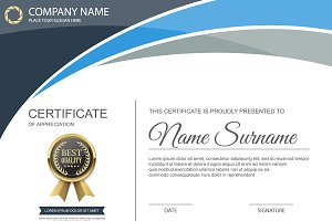 Vector certificate template 10 in 1