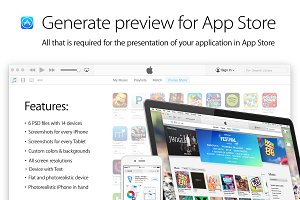 Generate preview for App Store