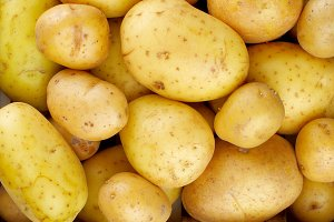 Yellow Potatoes Background