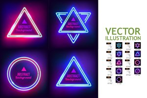 9 Abstract Border with Light Effects