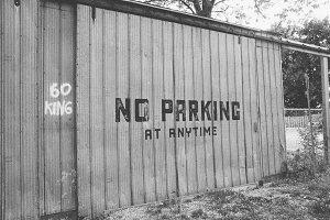 Metal Sliding Door with No Parking