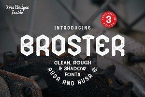 BROSTER Fonts + BONUS