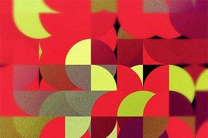 Retro half circle abstraction
