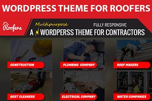 Roofers, wordpress theme for roofing