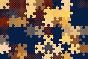 Half-tone pop art puzzle