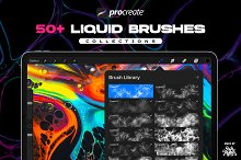 Procreate Liquid Brushes by  in Add-Ons