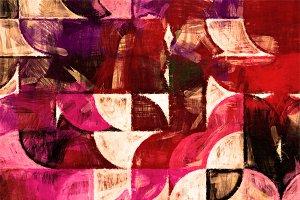 Half circle painting texture