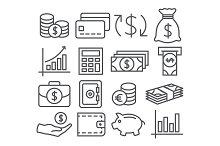 Money Line Icons