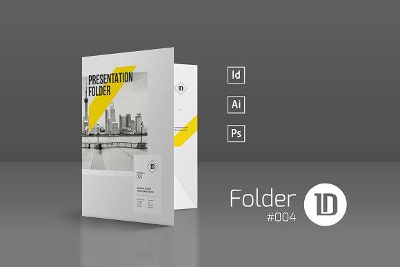 Presentation Folder Template 004 Stationery Templates Creative