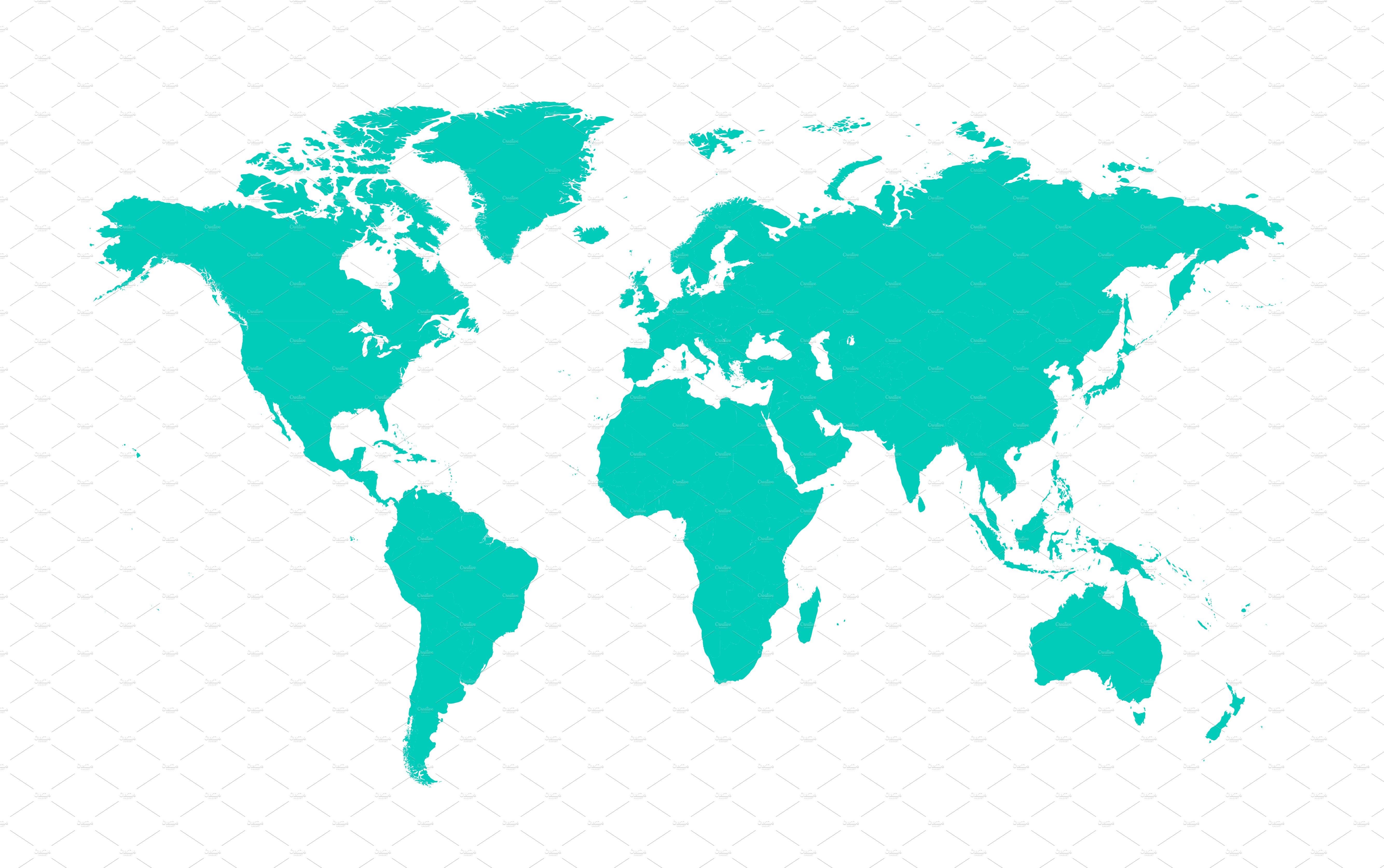 World Map Flat Timekeeperwatches - World flat map