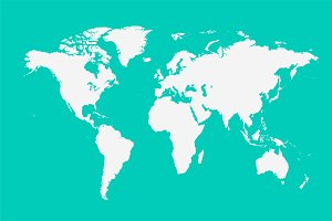 world map vector white