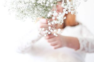 Bride Holding Flowers 5