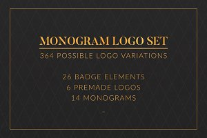 Monogram logo set