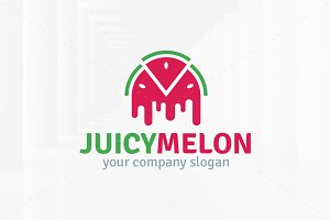 Juicy Melon Logo Template