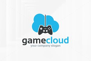 Game Cloud Logo Template