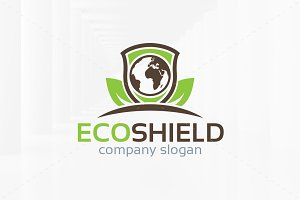 Eco Shield Logo Template
