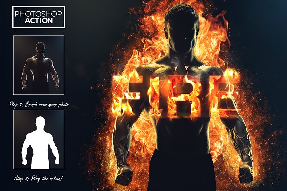 how to add fire to photoshop
