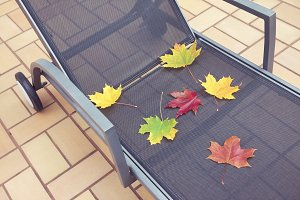 Deckchair at autumn