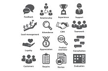 Business management icons. Pack 03.