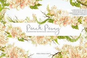 Peach Peony