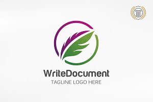 Writer Logo Design | Pen Head Design