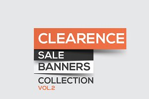 Collection of Sale Discount Banners