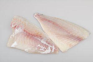 Seabream raw fish fillet