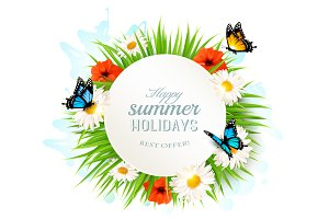Happy Summer Holidays Background