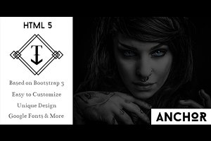 ANCHOR - One Page HTML5 Template