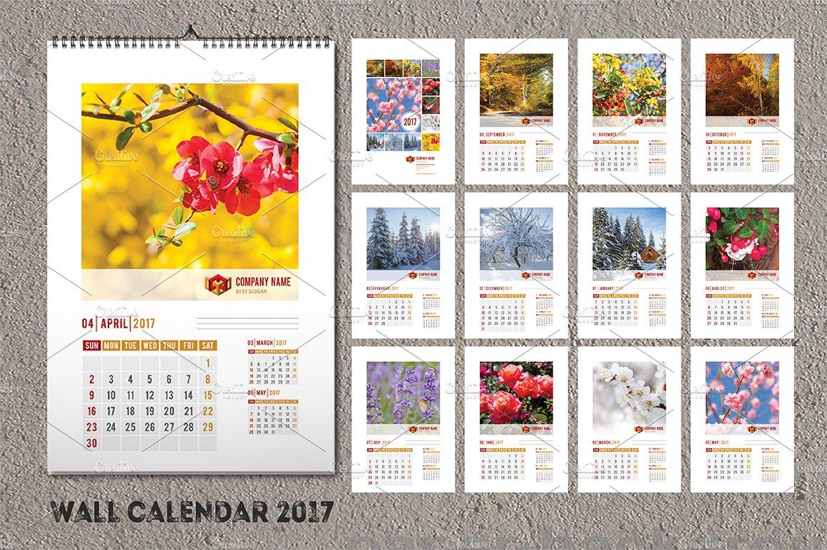 wall calendar template 2017 a3 stationery templates creative