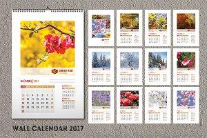 Wall calendar template 2017 (A3)