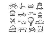 Transport line icons