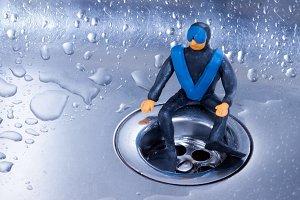 small plasticine diver