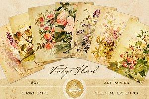 Vintage Floral Art Papers