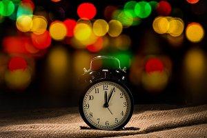 Alarm clock with bokeh light