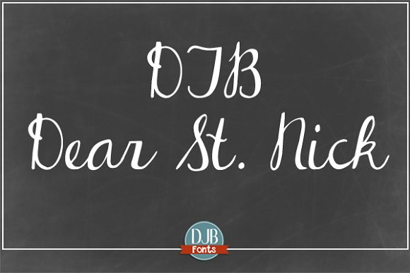 DJB Dear St. Nick - Script