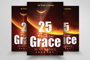 God Grace Chruch Flyer Template