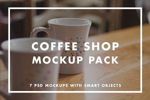 Coffee Shop Mockup Pack