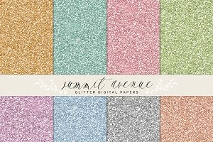 Digital Glitter Papers & Patterns