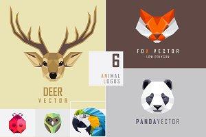 Geometric animal logo marks