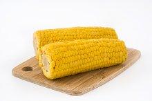 Corn. Isolated photo