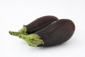 Aubergine. Isolated photo
