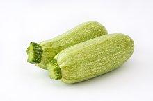 Zucchini. Isolated photo