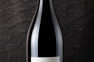 Bottle of Shiraz red wine