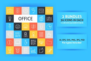 Office Line Art Icons